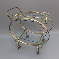 Italian Serving Trolley in the Style of Ico Parisi and Cesare Lacca (c. 1960s)