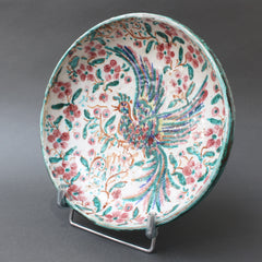 French Iznik-Inspired Ceramic Bowl by Édouard Cazaux (circa 1930s)