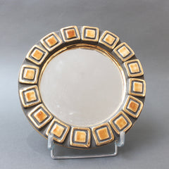 Ceramic Wall Mirror by François Lembo (circa 1960s)