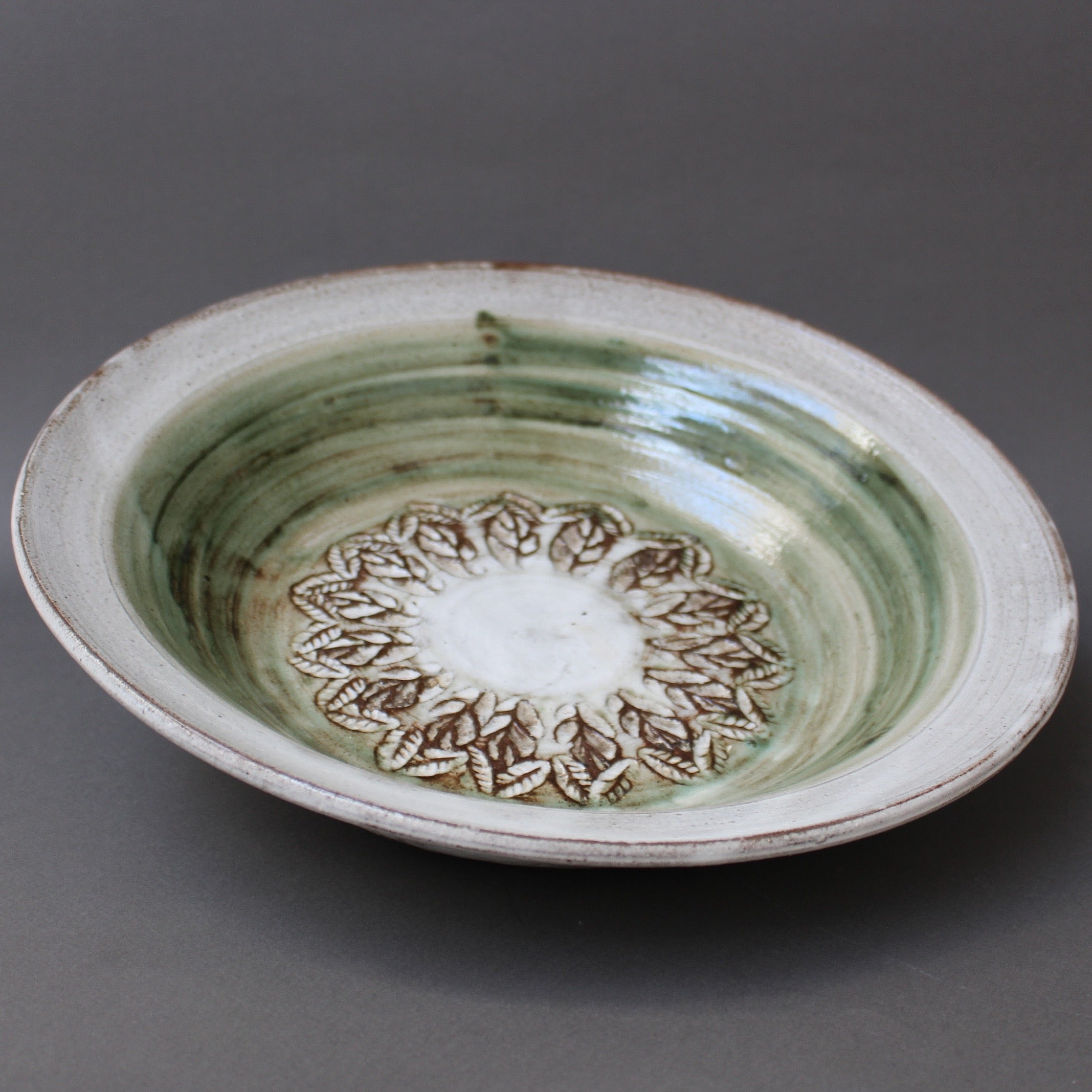Mid-Century Decorative Ceramic Bowl by Albert Thiry (Circa 1960s)
