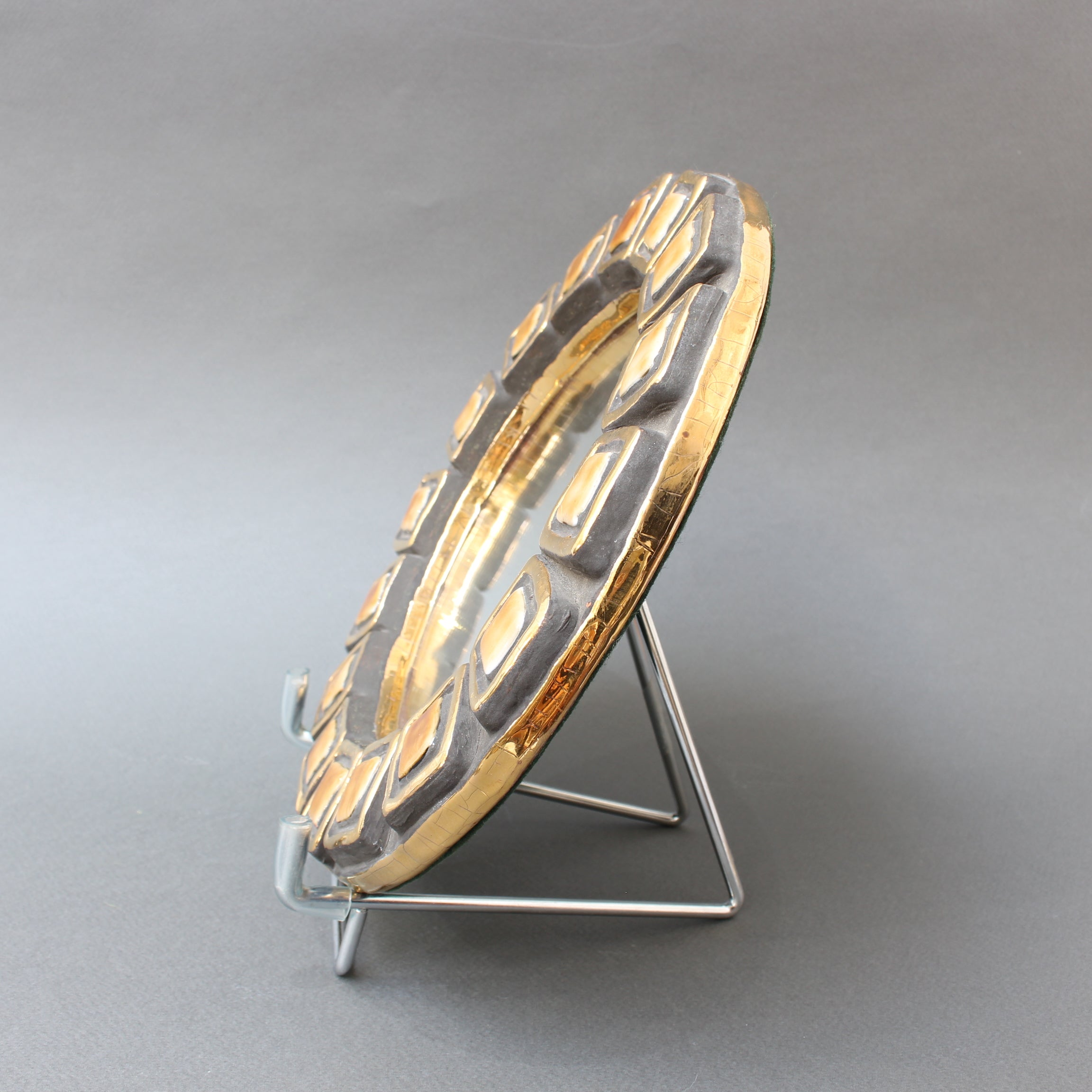 "Ceramic Wall Mirror by Mithé Espelt - ""Couronnes"" (1952)"