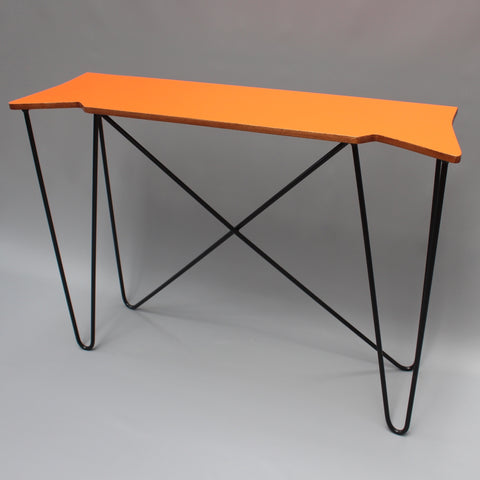 Vintage Orange Console Table (c. 1980s)