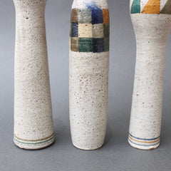 Set of Three Bottle-Shaped Vases by Bruno Gambone (circa 1990s)