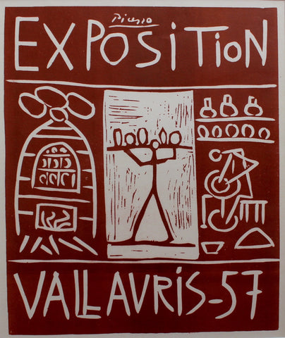 Picasso Vallauris 1957 Exhibition Poster (c. 1960s)