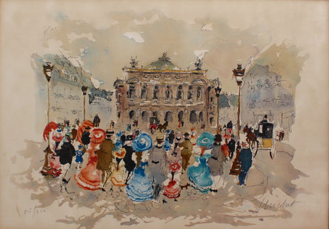 'Opera Garnier Paris' Limited Edition Lithograph by Urbain Huchet (c. 1980s)