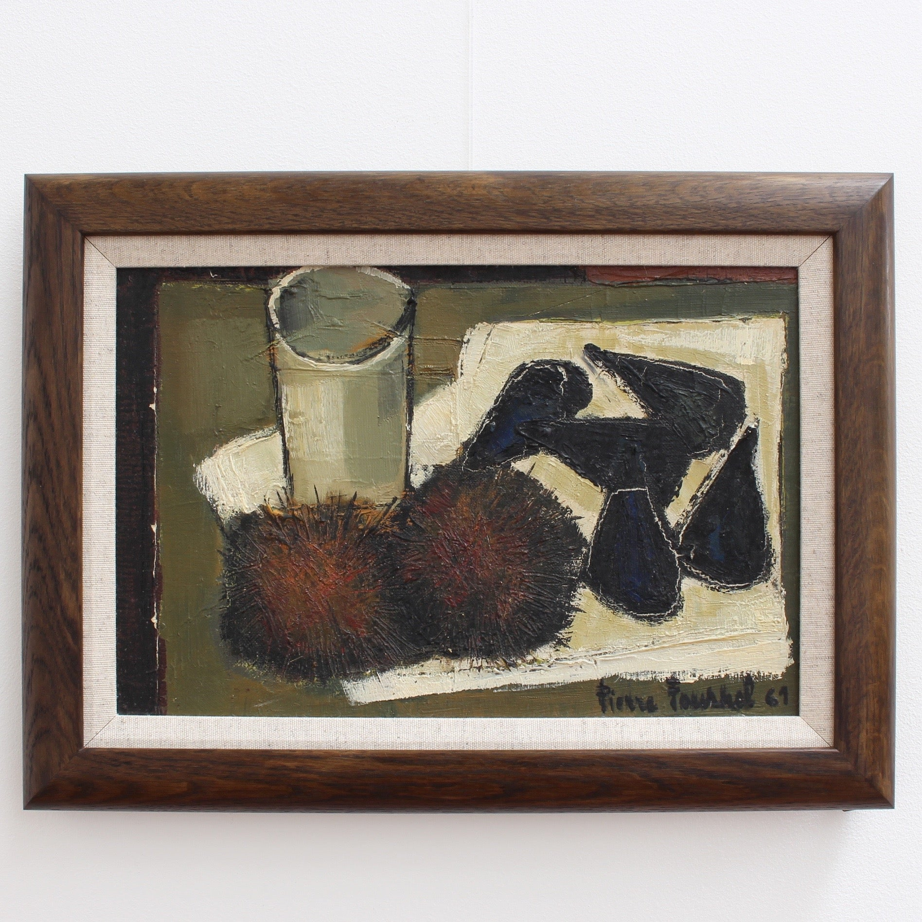 'Still Life with Sea Urchins and Mussels' by Pierre Fournel (1961)