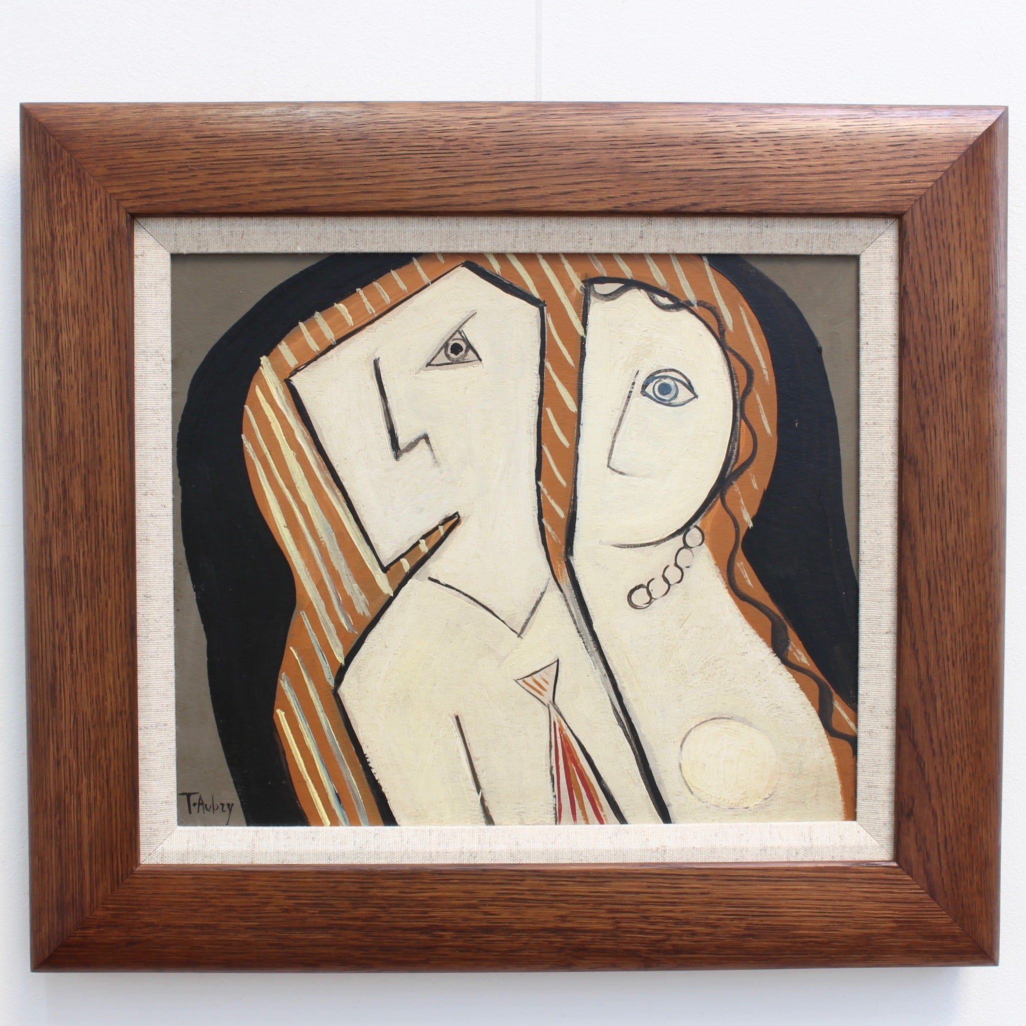 'Inseparable' by T. Aubry (French School circa 1950s - 60s)