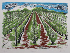 'Set of Four Burgundy Vineyard Seasonal Views' by Jonquil Cook (2007 & 2014)