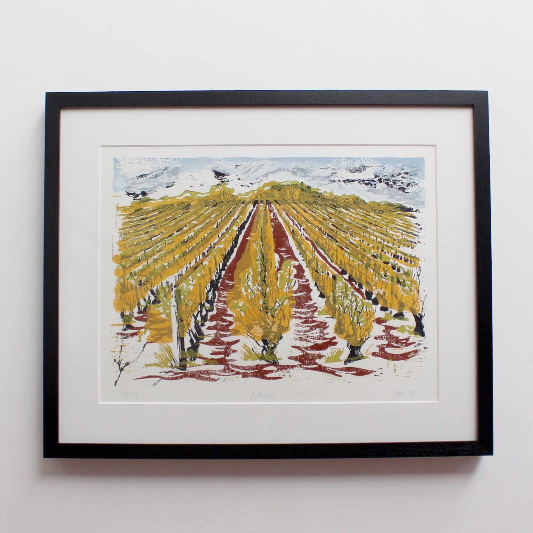 'Four Seasons Vineyard View in Burgundy' by Jonquil Cook (2007 & 2014)