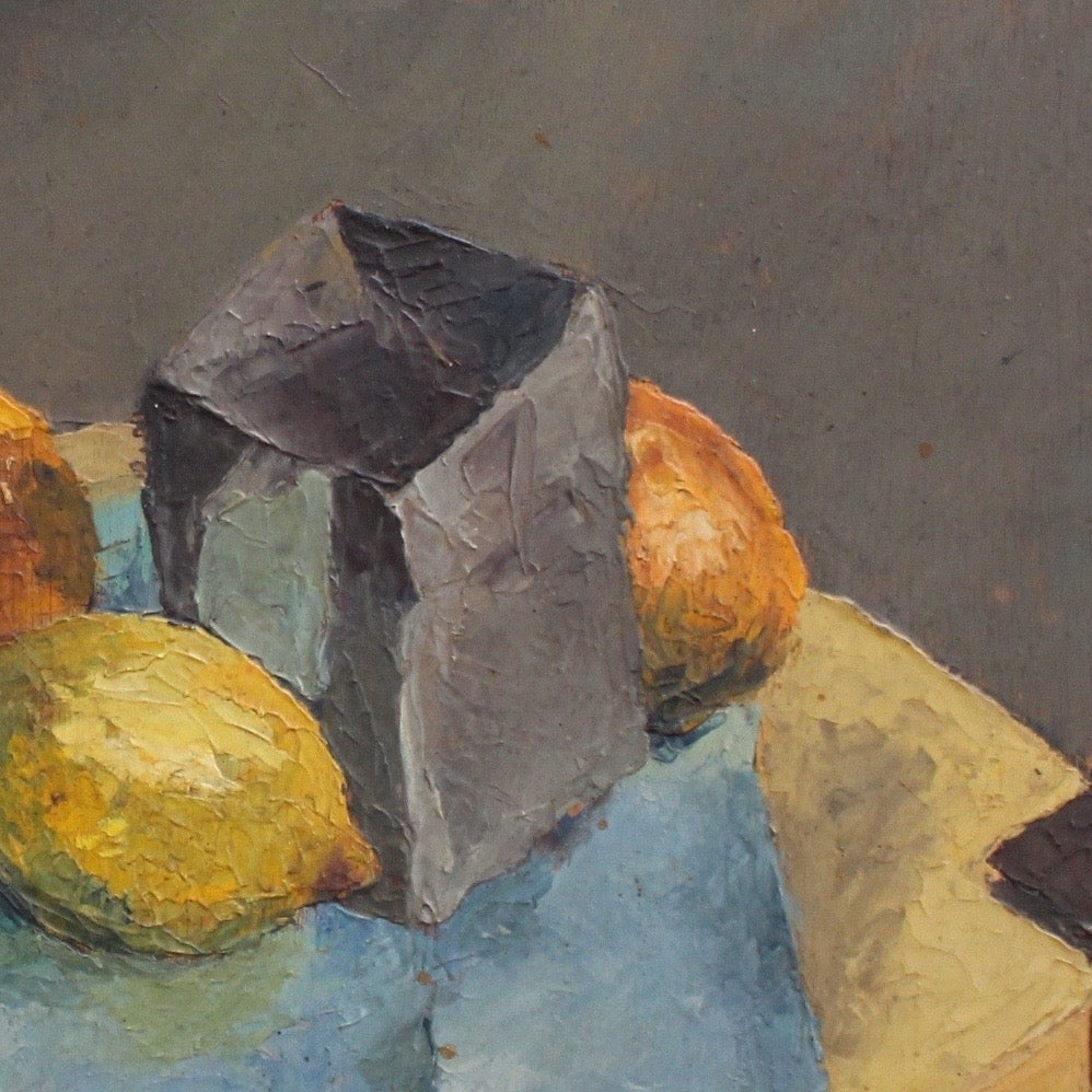 'Still Life with Fruit and Pipe' by French Artist Quillien (1937)