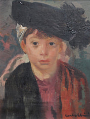 'Portrait of Boy in Feathered Cap' by Luigi Corbellini (Circa 1930s)