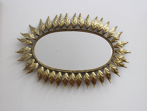 Spanish Gilt Metal Sunburst Mirror (c. 1960s)