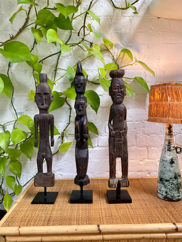 Wooden Sculpture of Totemic Figures from Timor Island, Indonesia (circa 1970s)