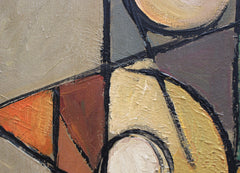 Seated Abstract Nude by Lemaire (French School circa 1950s - 70s)