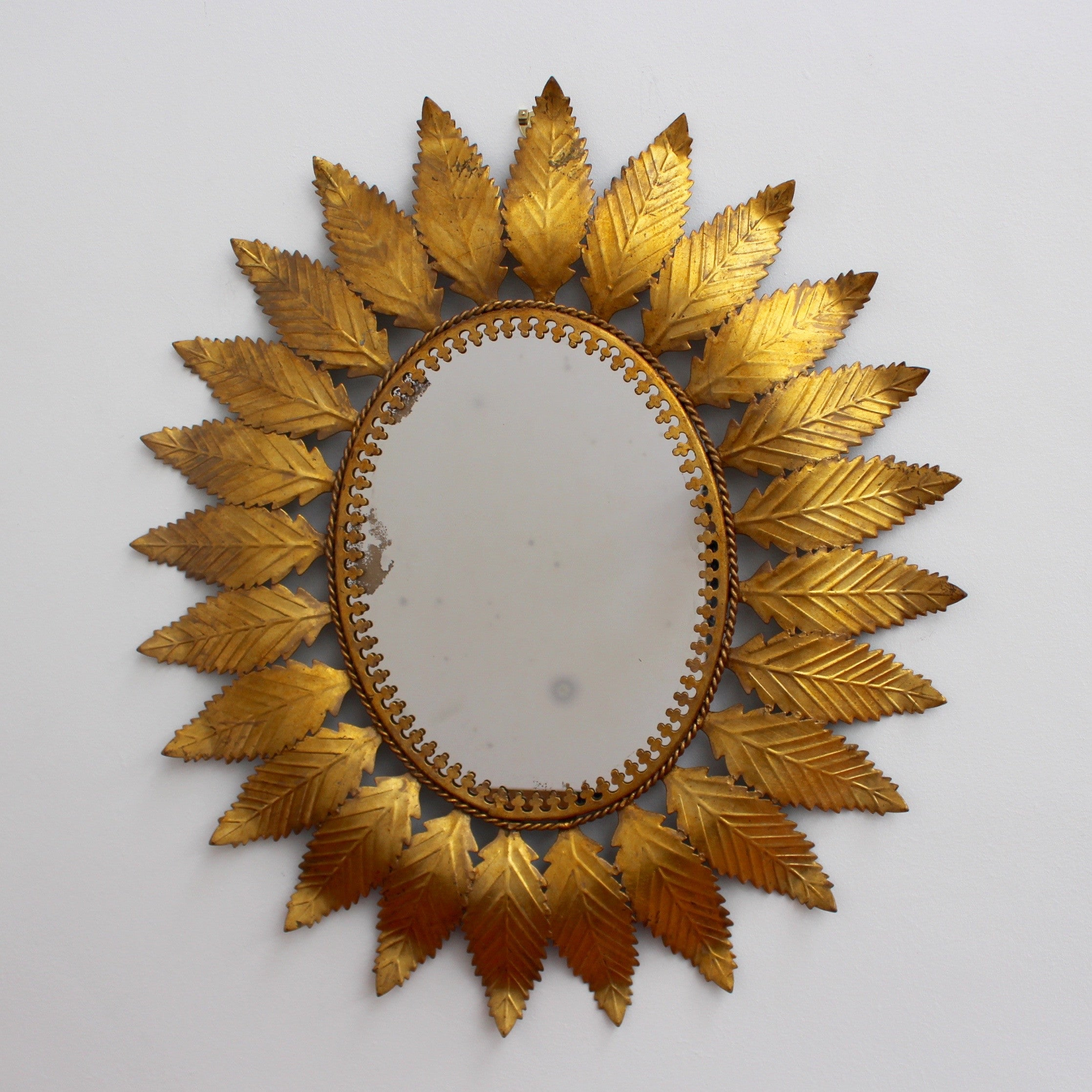 Spanish Gilt Metal Sunburst Mirror (c. 1950s)
