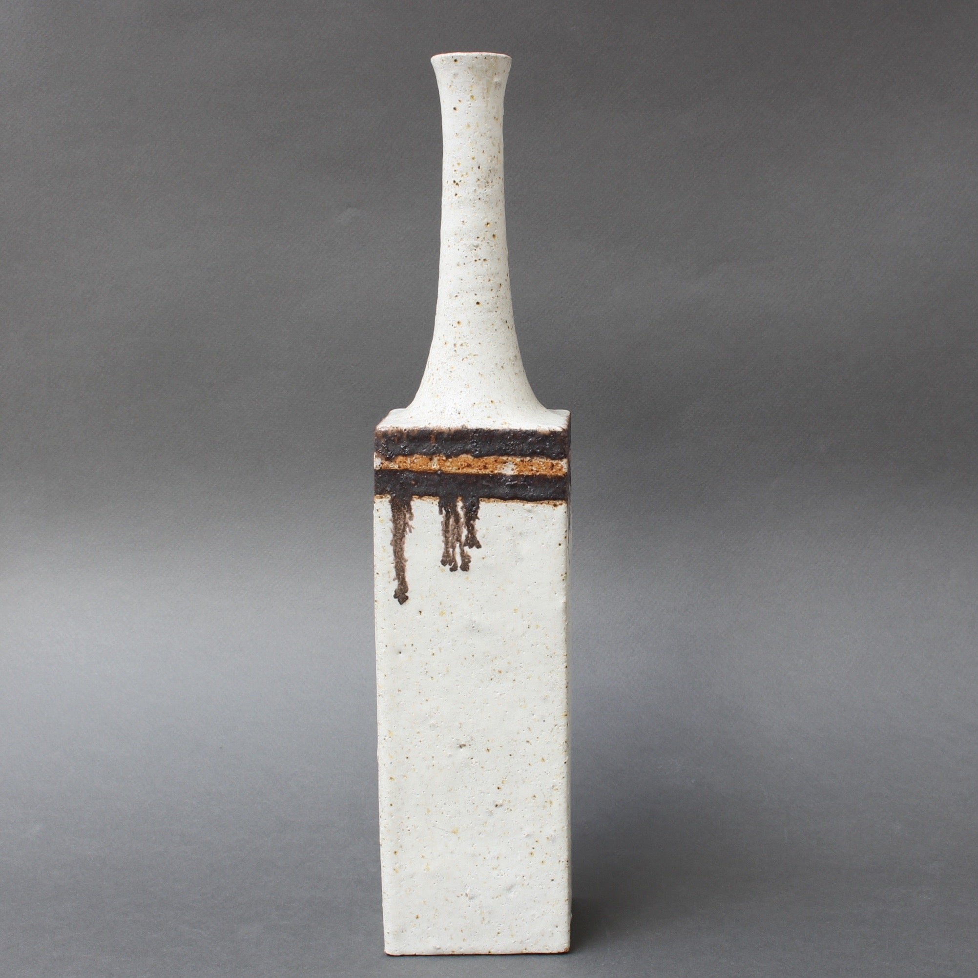 Ceramic Decorative Vase with Drip Motif by Bruno Gambone (circa 1970s)
