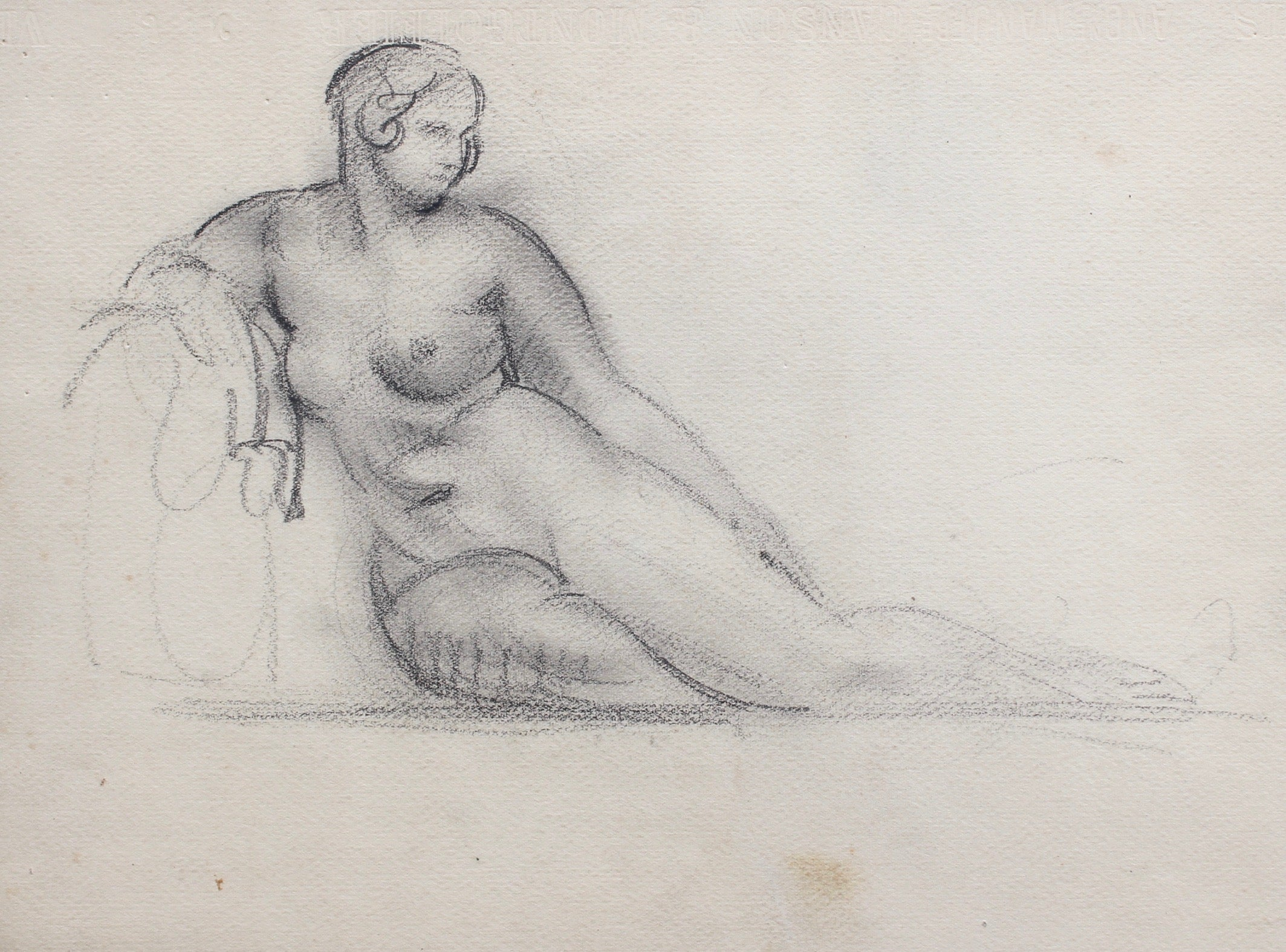 'Portrait of Reposing Nude' by Guillaume Dulac (circa 1920s)