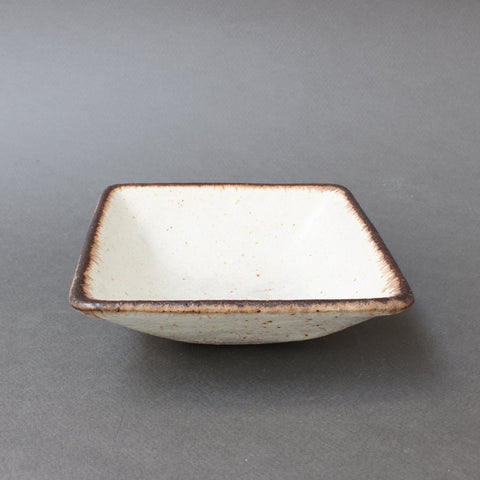 Stoneware Square Bowl by Bruno Gambone (circa 1970s)
