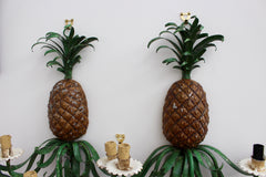 Pair of Mid-Century French Handmade Pineapple Sconce Lights