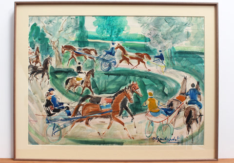 'A Day at the Deauville Racetrack' by Pierre Gaillardot (circa 1950s)