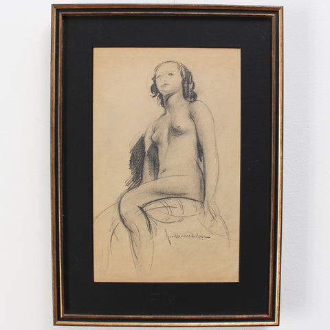 'The Seated Nude' by Guillaume Dulac (circa 1920s)