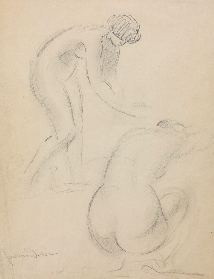 'Two Nudes Posing' by Guillaume Dulac (circa 1920s)