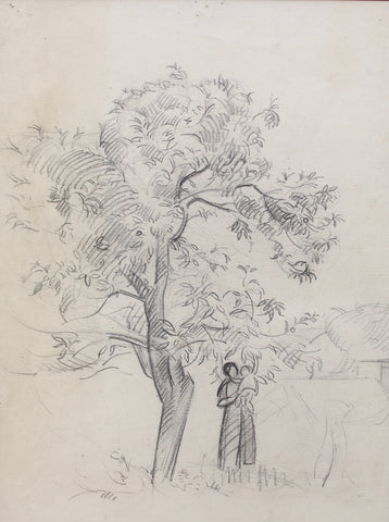 'Mother and Child Under Tree' by Guillaume Dulac (circa 1920s)