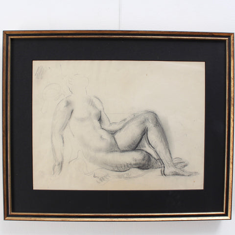'Study of Reclining Nude' by Guillaume Dulac (circa 1920s)