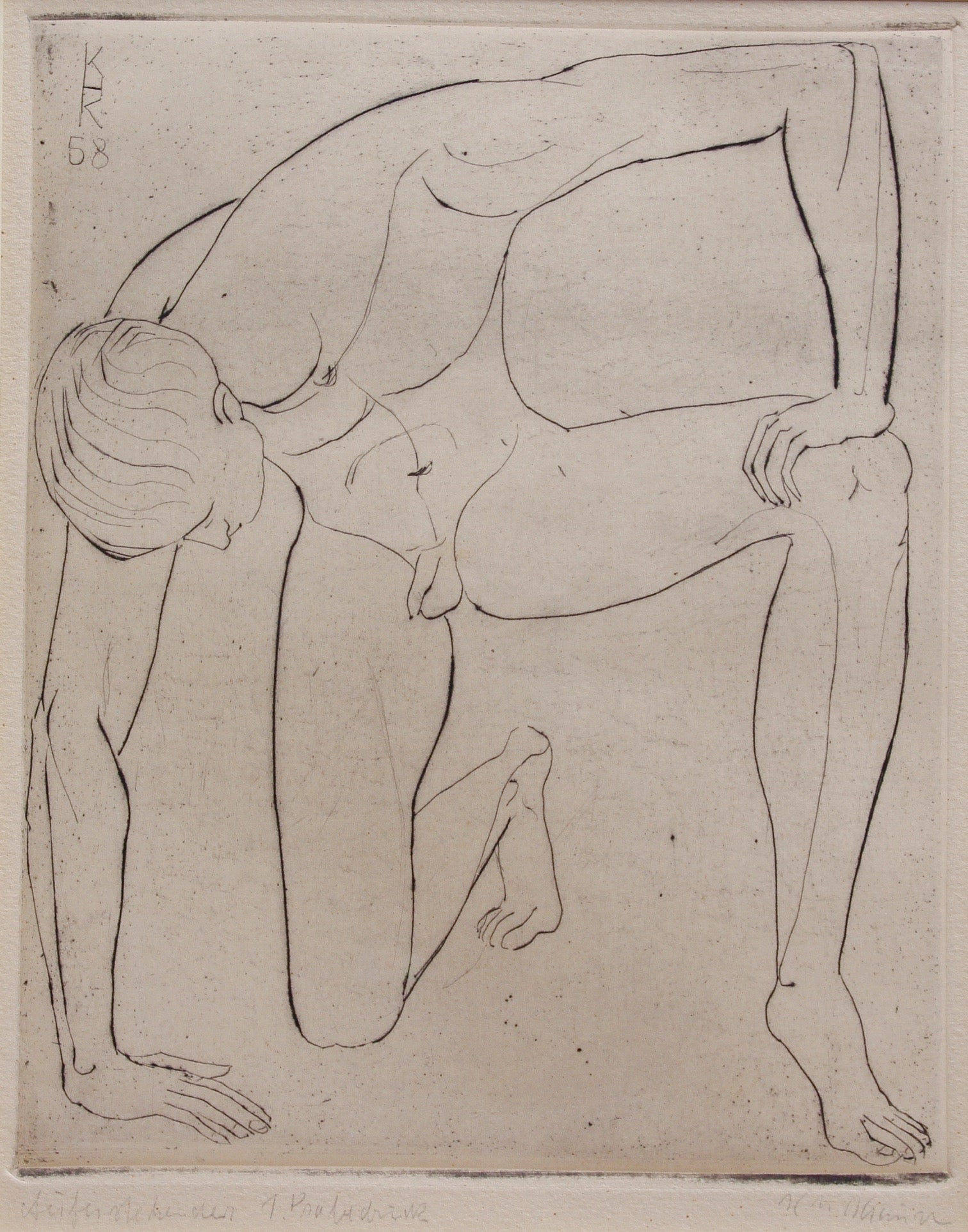 'Study of a Nude Young Man' by KHK (1958)