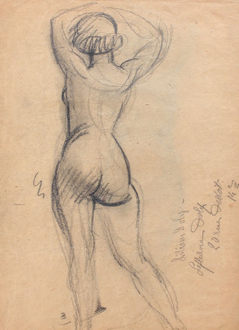 'Standing Nude with Raised Arms' by Guillaume Dulac (circa 1920s)