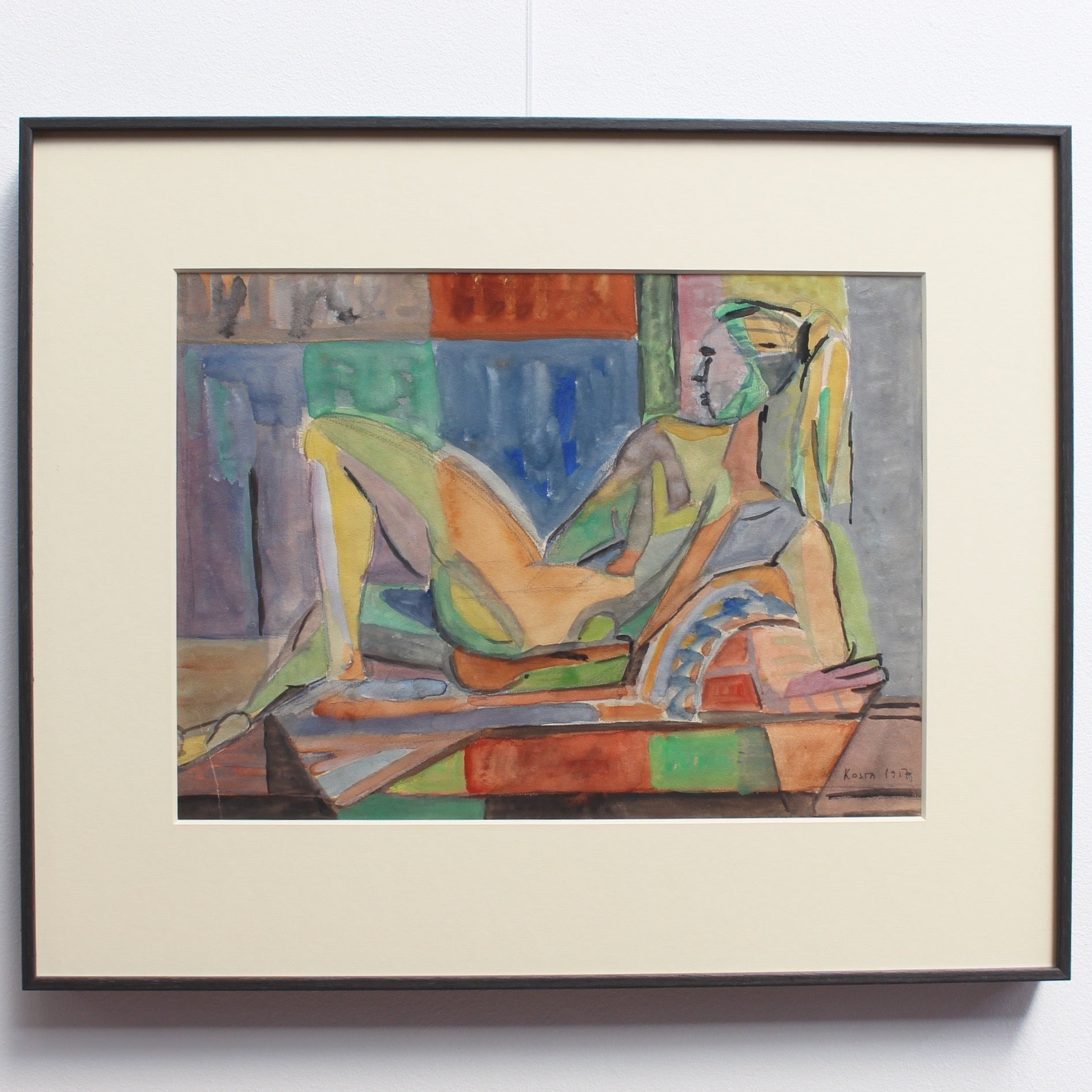 Reclining Nude Model by Kosta Stojanovitch (1957)