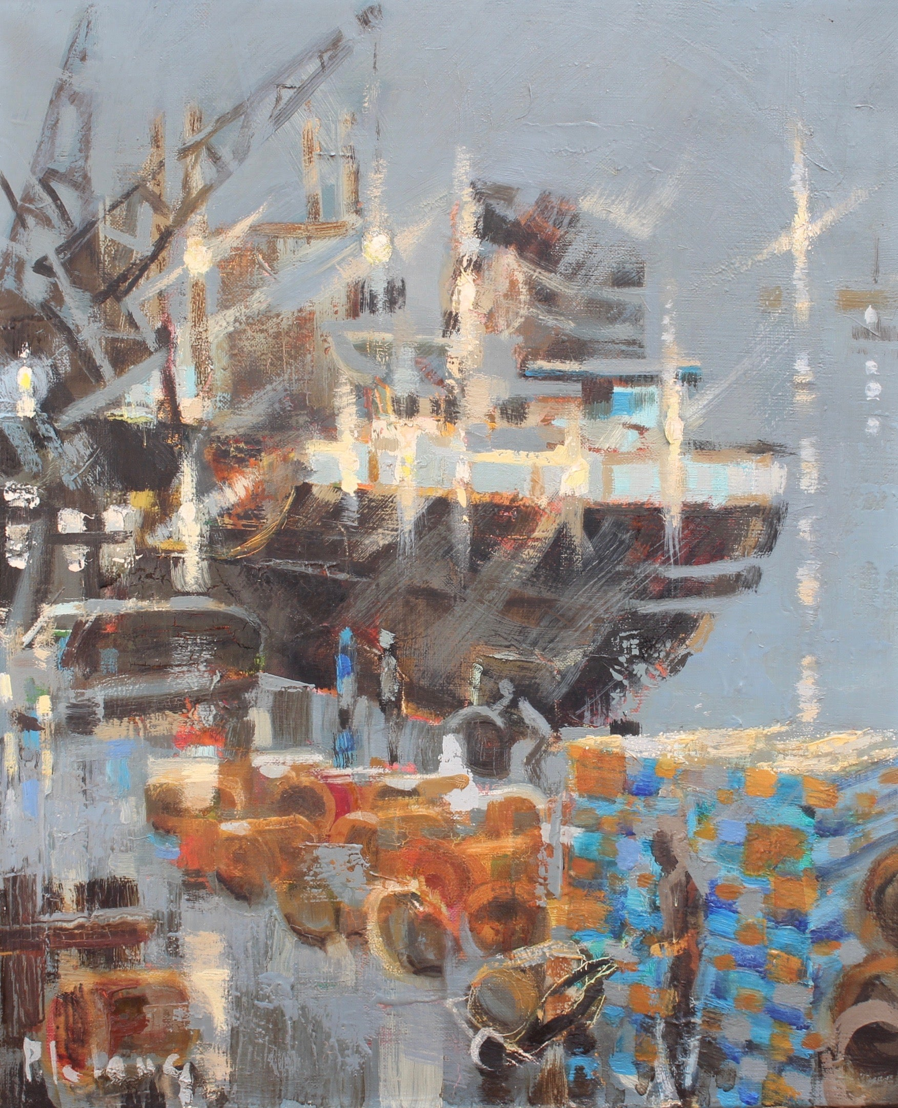 'Stopover in Port' by Pierre Lelong (circa 1960s - 70s)