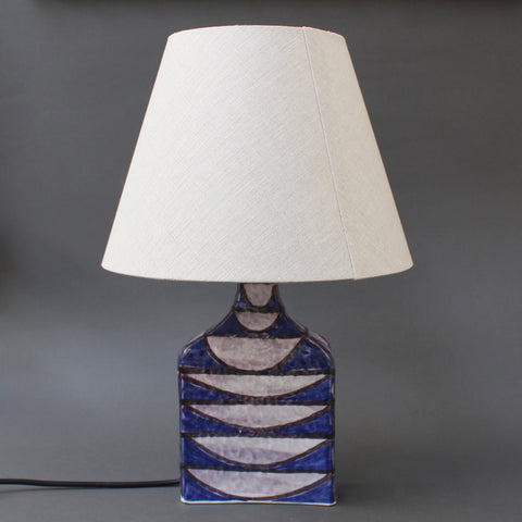 Ceramic Italian Mid-Century Modern Table Lamp by Alessio Tasca (circa 1950s)