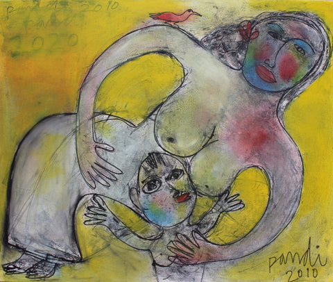 'Mother with Child' by Pandi (I Nyoman Sutaria) (2010)