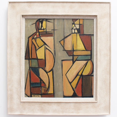 'Cubist Man and Woman' by STM (circa 1950s - 1970s)