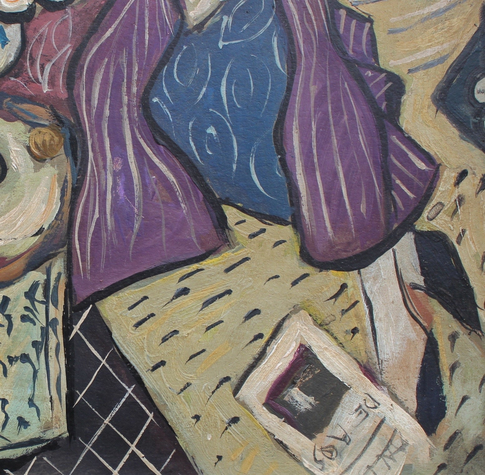 'Portrait of Woman in Purple Coat' by A.R.D. (circa 1940s)