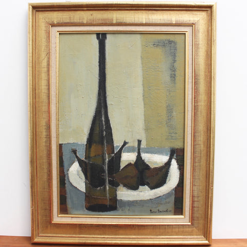 'Still Life with Bottle and Figs' by Pierre Fournel (1968)