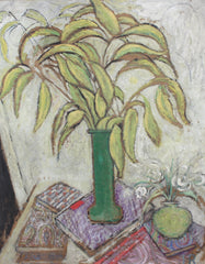 'Still Life with Foliage and Books' by Juliette Roche-Gleizes (circa 1930s)