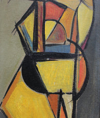 'Pizzicato' Double Bass Player by V.R. (circa 1940s - 50s)
