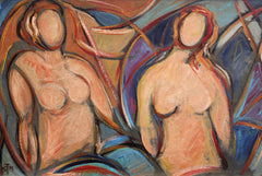 'Nudes in Repose' by STM (circa 1940s - 1960s)