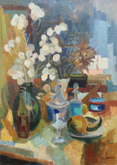 'Still Life with Vases, Vessels and Fruit' by Nicole Yzon (circa 1940s)