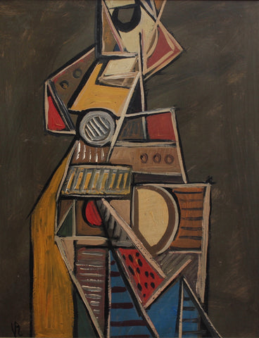 'Cubist Instrumentalist' by V.R. (circa 1940s - 50s)