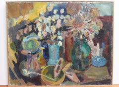 'Still Life on Table Top' by Nicole Yzon (circa 1940s)