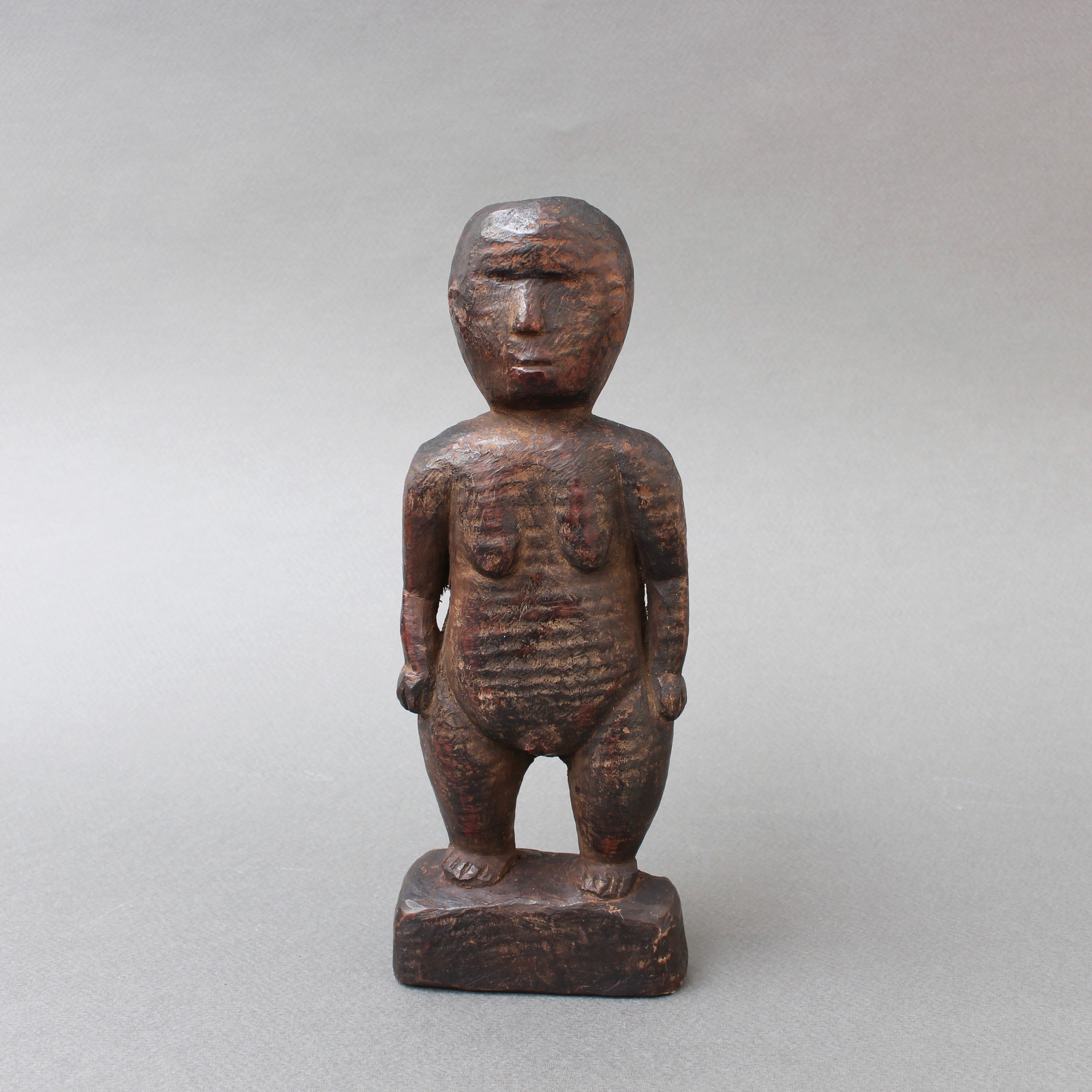 Wooden Carving of Female Figure from Sumba Island, Indonesia (circa 1960s)