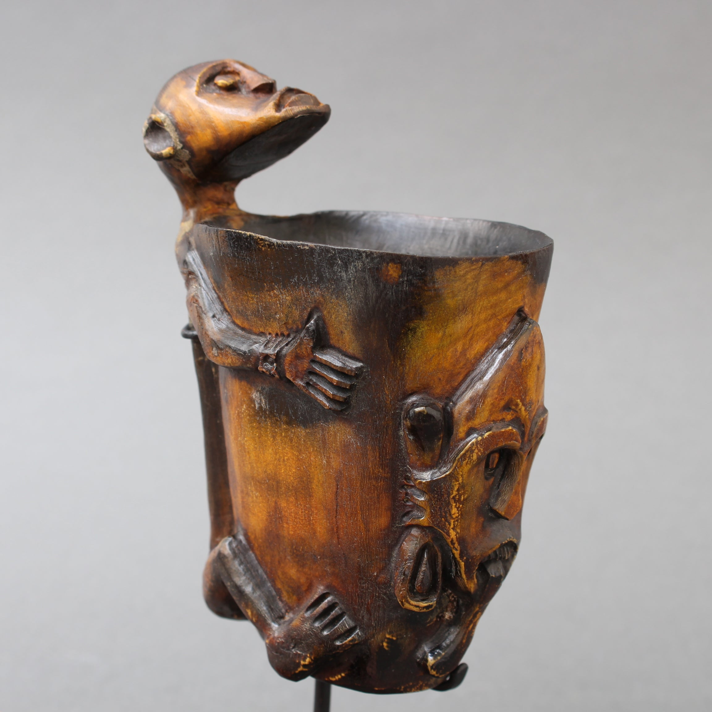 Carved Tattoo Ink Pot from Timor Island, Indonesia (circa 1940s-50s)