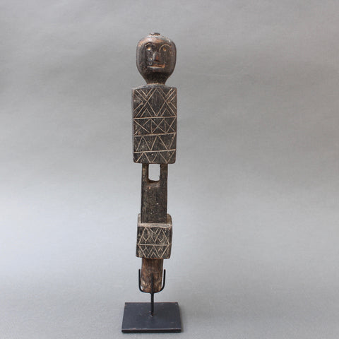 Carved Wooden Figure from Nias, Indonesia (circa 1960s - 70s)