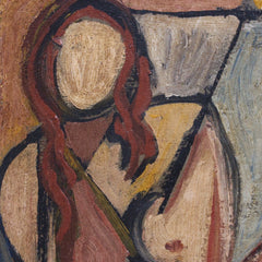 'Portrait of Man and Woman' by STM (c. 1950s)