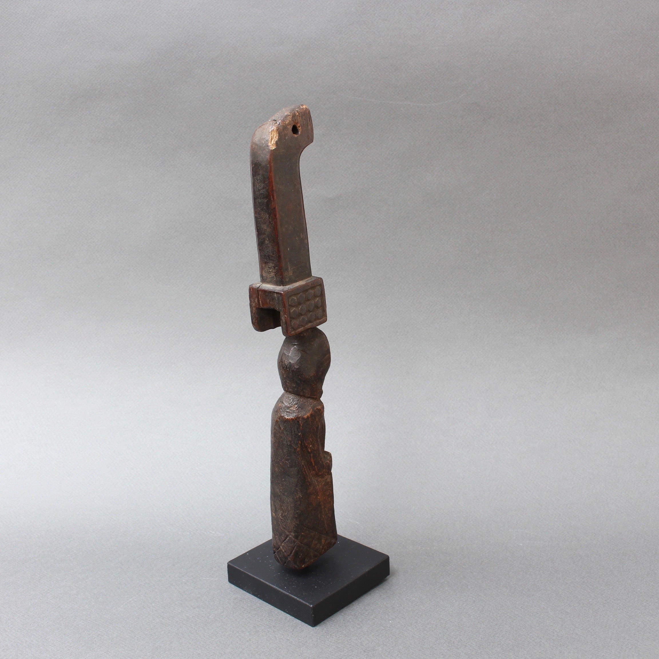 Carved Wooden Figure / Handle Tool from Timor Island, Indonesia (circa 1960s-70s)