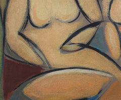 'Two Nudes in Landscape' by STM (circa 1950s)