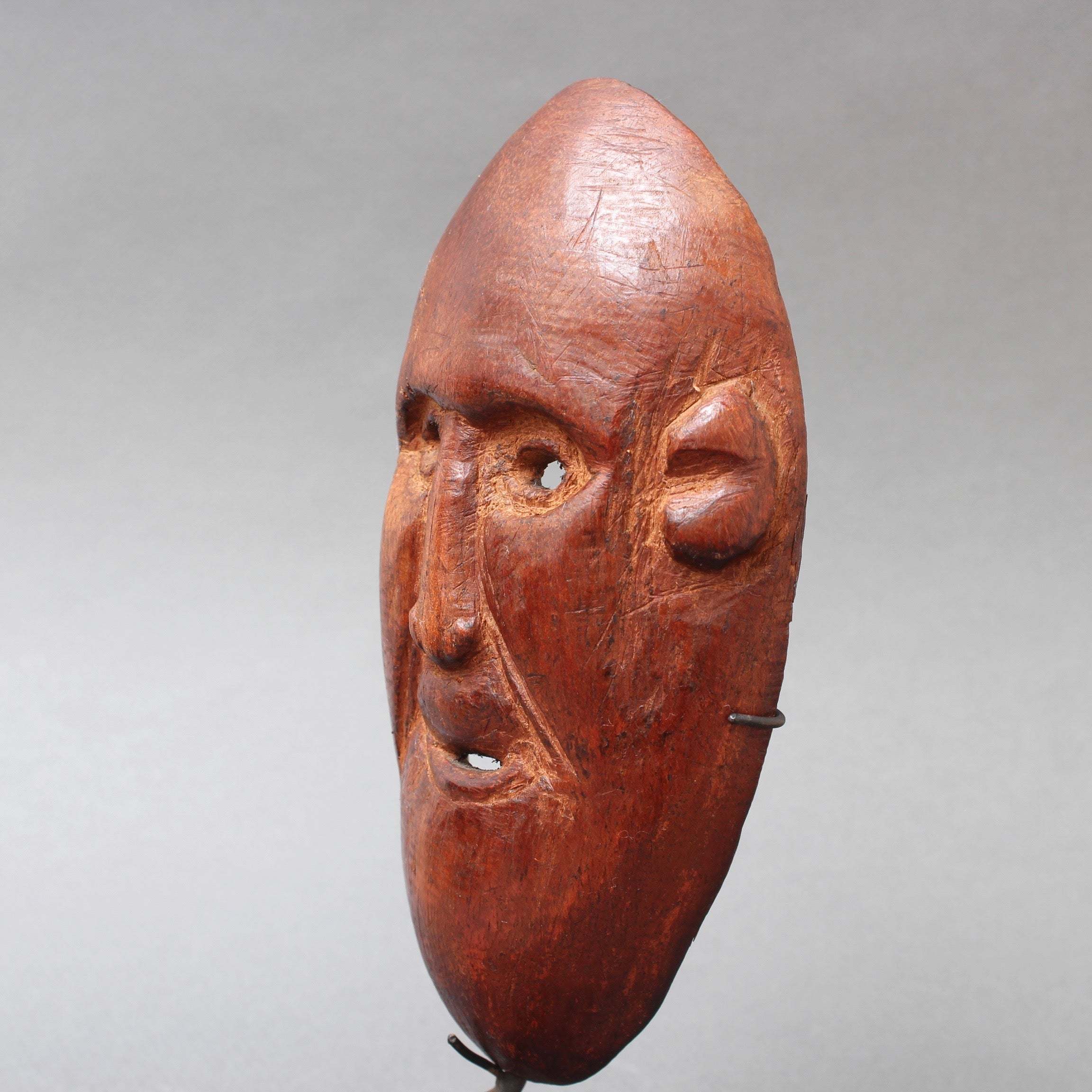 20th Century Sculpted Wooden Traditional Mask from Timor Island, Indonesia